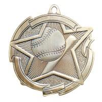 2 3/8 Inch Baseball Star Medal