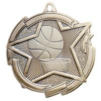 2 3/8 Inch Basketball Star Medal