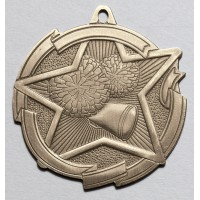 2 3/8 Inch Cheerleading Star Medal