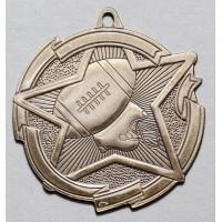 2 3/8 Inch Football Star Medal