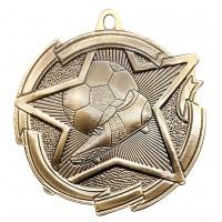 2 3/8 Inch Soccer Star Medal