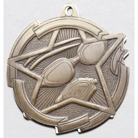 2 3/8 Inch Swimming Star Medal
