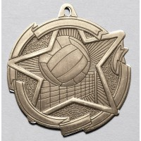 2 3/8 Inch Volleyball Star Medal