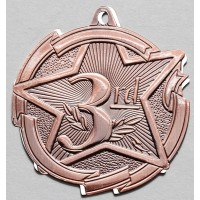 2 3/8 Inch Bronze Star Medal Third Place