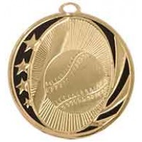2 inch Baseball Laserable MidNite Star Medal