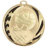 2 inch Basketball Laserable MidNite Star Medal