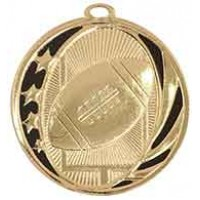 2 inch Football Laserable MidNite Star Medal