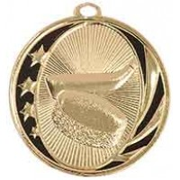 2 inch Hockey Laserable MidNite Star Medal
