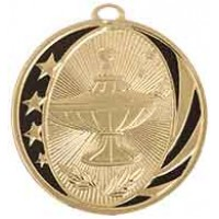 2 inch Lamp of Knowledge Laserable MidNite Star Medal