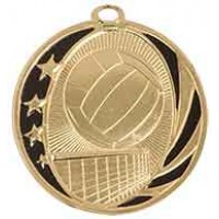 2 inch Volleyball Laserable MidNite Star Medal