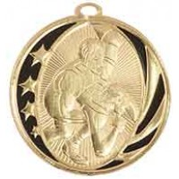 2 inch Wrestling Laserable MidNite Star Medal