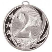 2 inch 2nd Place Laserable MidNite Star Medal