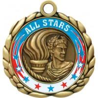 2 1/2  Antqiue Gold QCM Medal VICTORY (MD-QCM48)