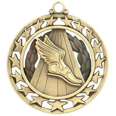 2 1/2  Super Star Medal TRACK in Gold (MD-SSM38G)