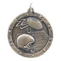 1 3/4 inch Football Shooting Star Medal