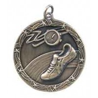 1 3/4 inch Track Shooting Star Medal