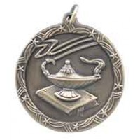 1 3/4 inch Lamp of Knowledge Shooting Star Medal