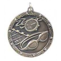 1 3/4 inch Swimming Shooting Star Medal