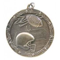 2 1/2 inch Football Shooting Star Medal