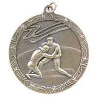 2 1/2 inch Wrestling Shooting Star Medal