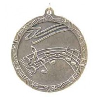 2 1/2 inch Music Shooting Star Medal