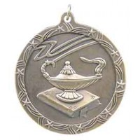 2 1/2 inch Lamp of Knowledge Shooting Star Medal
