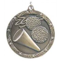 2 1/2 inch Cheerleading Shooting Star Medal