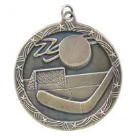 2 1/2 inch Hockey Shooting Star Medal