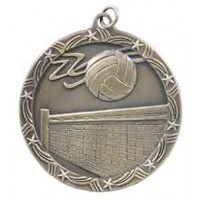 2 1/2 inch Volleyball Shooting Star Medal