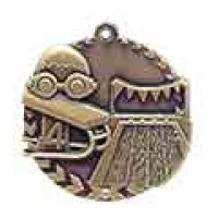 1 3/4 inch Swimming Millennium Medal