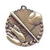 1 3/4 inch Baseball Millennium Medal