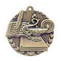 1 3/4 inch Lamp of Knowledge Millennium Medal