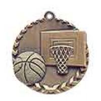1 3/4 inch Basketball Millennium Medal