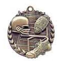 1 3/4 inch Football Millennium Medal