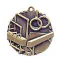 1 3/4 inch Gymnastics Millennium Medal