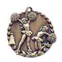 1 3/4 inch Cheerleading Millennium Medal