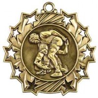 2 1/4 inch Wrestling Ten Star Medal