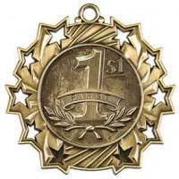 2 1/4 inch 1st Place Ten Star Medal