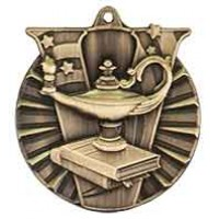 2 inch Lamp of Knowledge Victory Medal