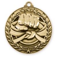 1 3/4'' Wreath Martial Arts Medallion Gold