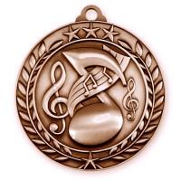 1 3/4'' Wreath Music Medallion Bronze