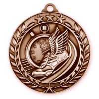 1 3/4 Wreath Track Medallion Bronze