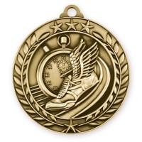 1 3/4   Wreath Track Medallion Gold (MD-WAM976G)