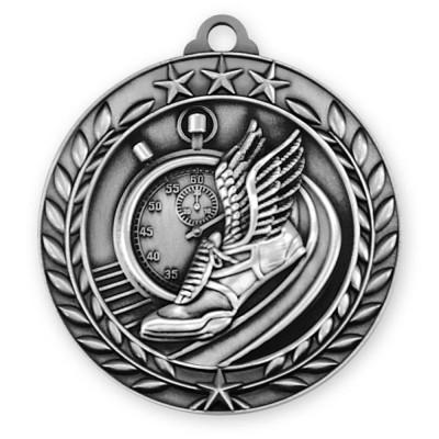 1 3/4   Wreath Track Medallion Silver (MD-WAM976S)