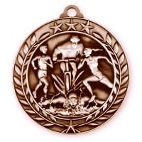 1 3/4'' Wreath Triathlon Medallion Bronze