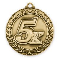 1 3/4'' Wreath 5K Medallion Gold