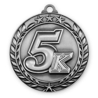 1 3/4'' Wreath 5K Medallion Silver