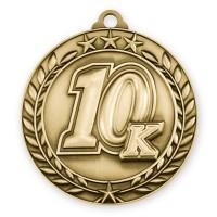 1 3/4'' Wreath 10K Medallion Gold
