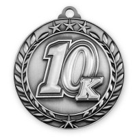 1 3/4'' Wreath 10K Medallion Silver