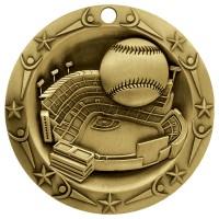 3'' World Class Baseball Medallion Gold